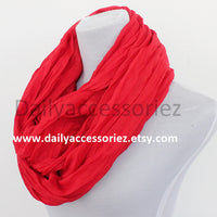 Red Crinkle Scarf - Bean Concept - Etsy