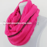 Hot Pink Scarf - Bean Concept - Etsy