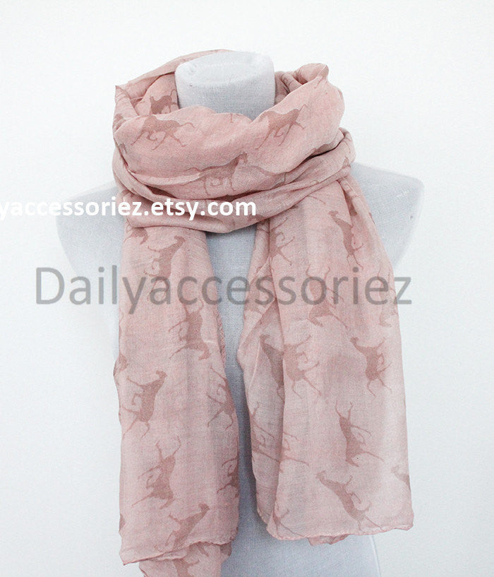 Pink Horse Scarf - Bean Concept - Etsy