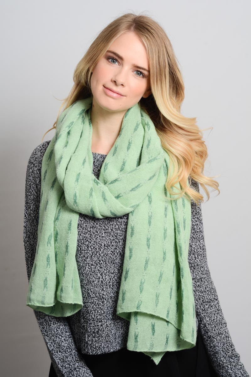 Mint Green Knitted Scarf - Bean Concept - Etsy