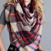 Oversize Plaid Blanket Scarf - Bean Concept - Etsy