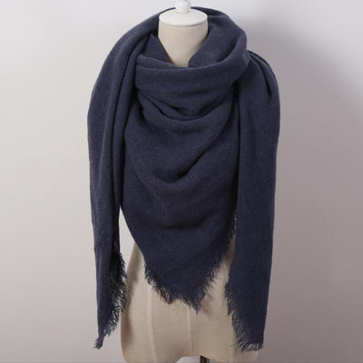 Navy Blue Blanket Scarf - Bean Concept - Etsy