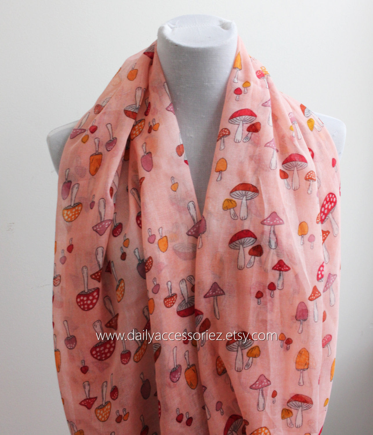 Coral Mushroom Infinity Scarf - Bean Concept - Etsy