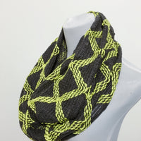 Yellow Aztec Knitted Scarf - Bean Concept - Etsy