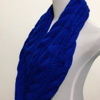 Cobalt Blue Cable Knitted Scarf - Bean Concept - Etsy