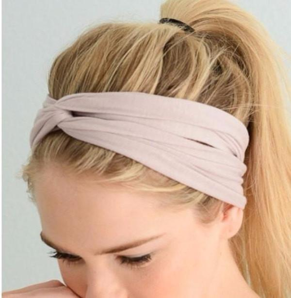 light pink womens headband - Bean Concept - Etsy