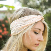 light peach pink knot headband - Bean Concept - Etsy