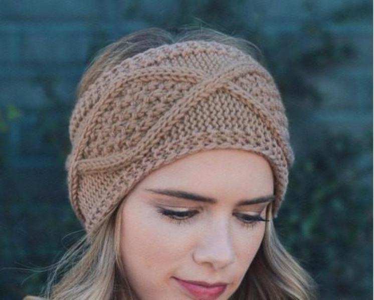 Brown Cable Knit Headband - Bean Concept - Etsy
