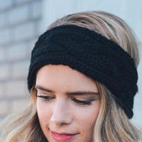 Black Cable Knit Ear Warmers - Bean Concept - Etsy