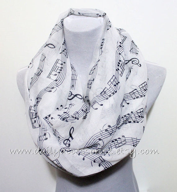 Music Note Scarf - Bean Concept - Etsy