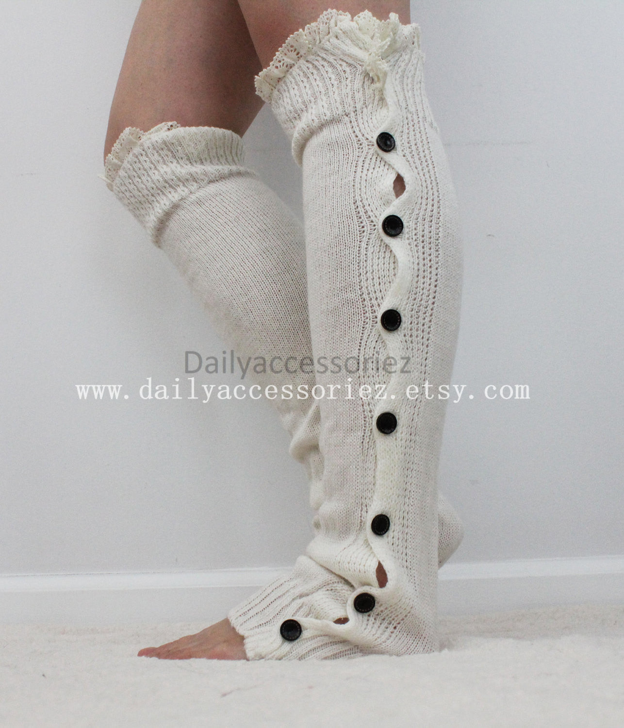 lace womens leg warmers - Bean Concept - Etsy