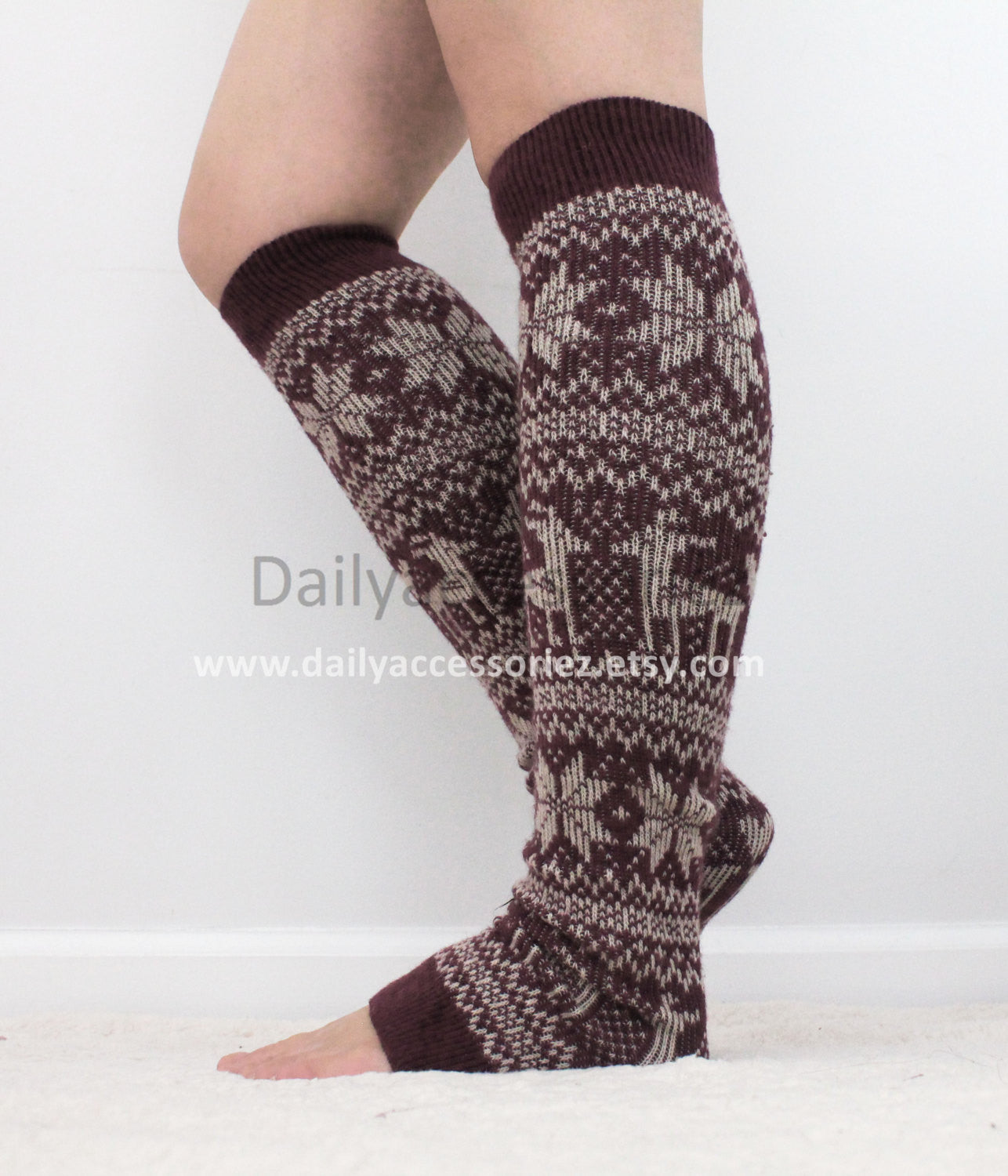 Christmas Reindeer Knit Leg Warmers - Bean Concept - Etsy
