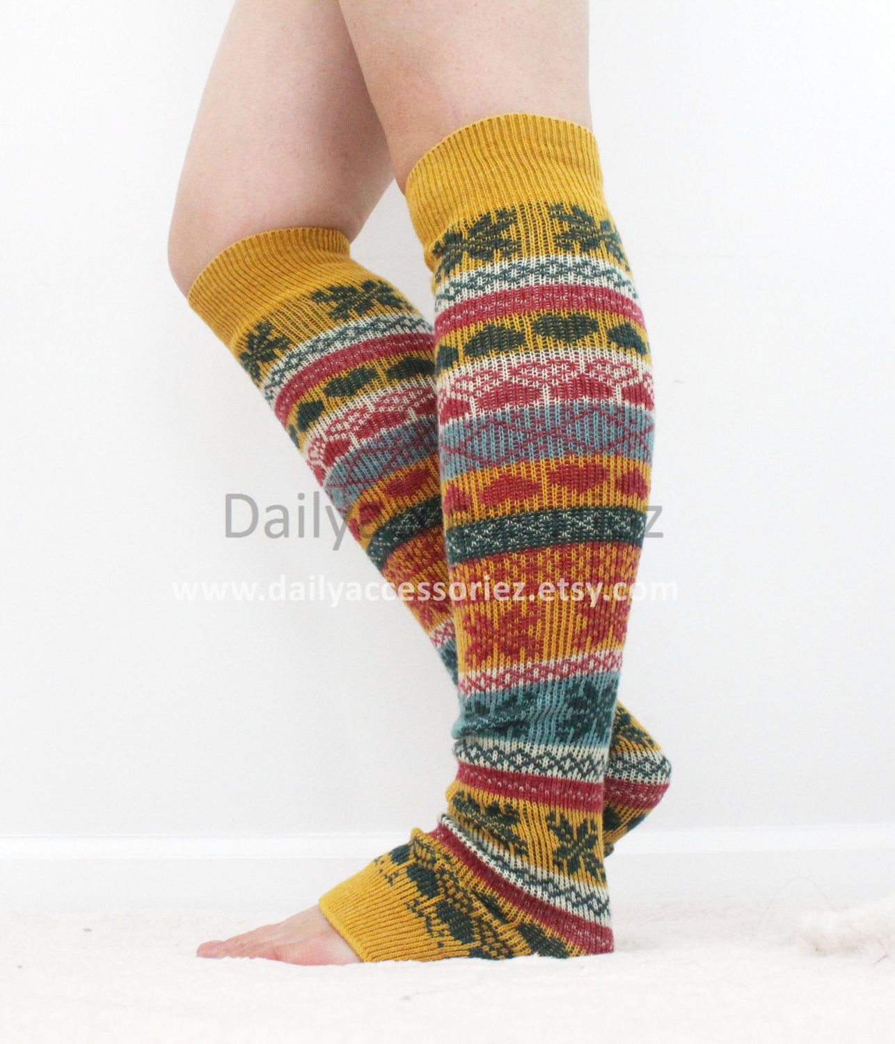 Yellow Christmas Leg Warmers - Bean Concept - Etsy