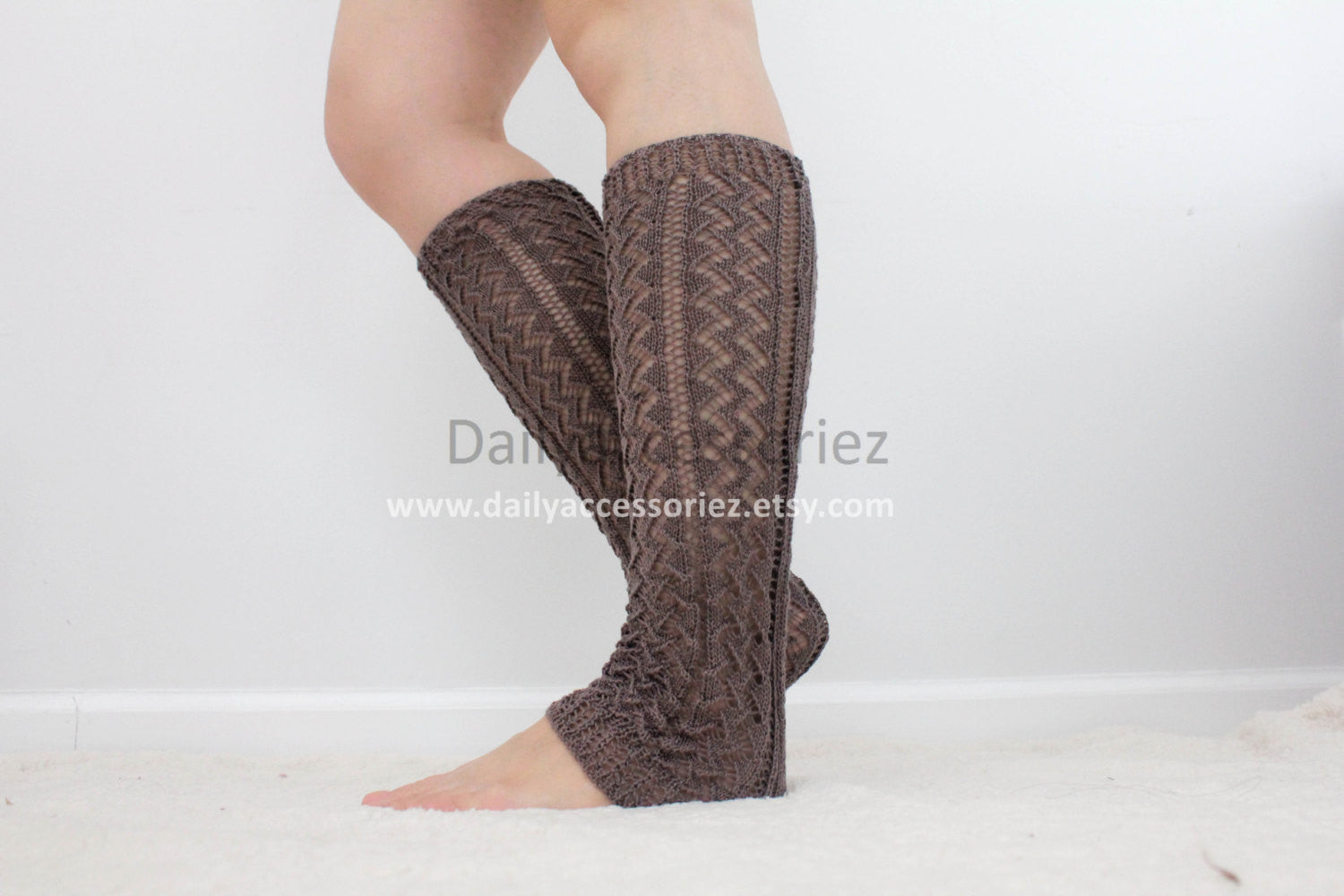 Black Perforated Knit Leg Warmers - Bean Concept - Etsy