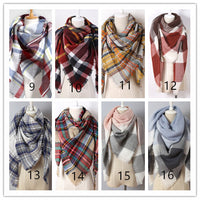 Plaid Blanket Scarf - Bean Concept - Etsy