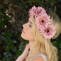 Pink Daisy Flower Crown - Bean Concept - Etsy