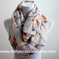 Gray Bird Scarf - Bean Concept - Etsy