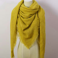 Mustard Yellow Blanket Scarf - Bean Concept - Etsy