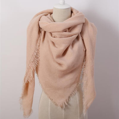Blush Pink Blanket Scarf - Bean Concept - Etsy