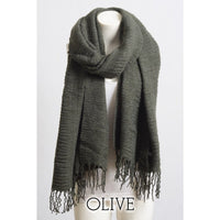 Olive Green Basic Winter Scarf - Bean Concept - Etsy