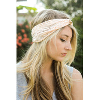 Pink gold knot headband - Bean Concept - Etsy