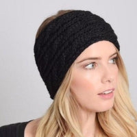 Black Knitted Headband - Bean Concept - Etsy