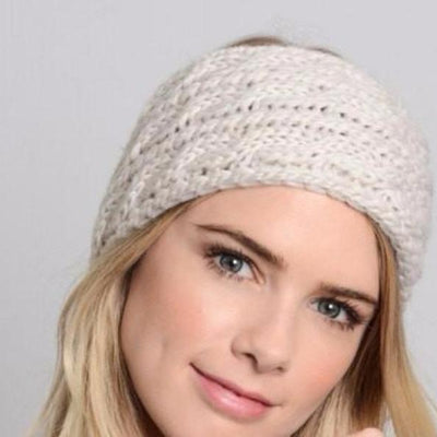 Ivory Knitted Headband - Bean Concept - Etsy