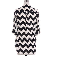 Black Chevron Blouse - Bean Concept - Etsy