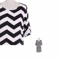 Chevron Blouse with Sleeves - Bean Concept - Etsy