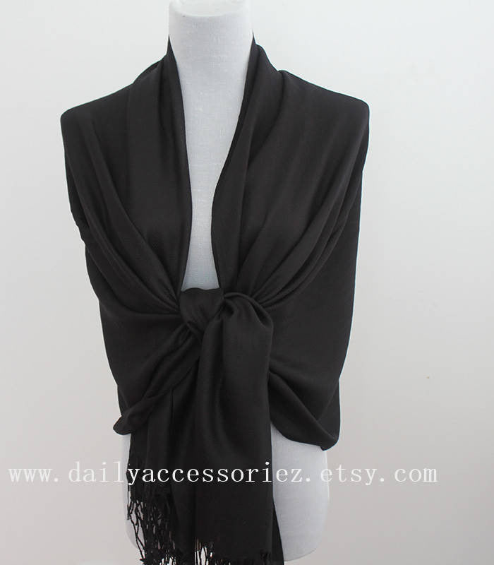 Black Wedding Pashmina Scarf - Bean Concept - Etsy