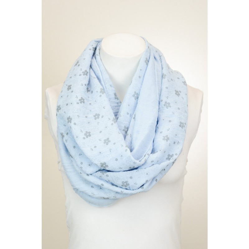Blue Flower Scarf - Bean Concept - Etsy