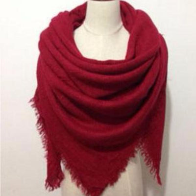 Red Blanket Scarf - Bean Concept - Etsy