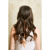 Leather Feather Headband - Bean Concept - Etsy