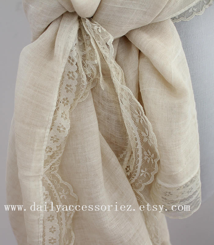 Lace Infinity Scarf - Bean Concept - Etsy