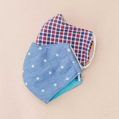 Star Chambray Cotton Mask for Adult
