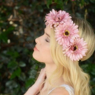 Pink Daisy Crown