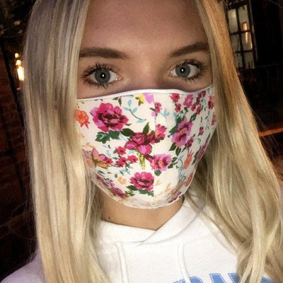 floral print cotton face mask