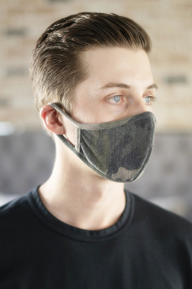 father's day gift, men's face mask, camouflage, breathable, men's face covering, 100% cotton cloth mask, re-usable mask, washable mask
