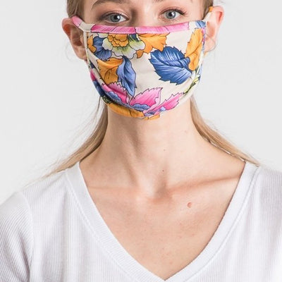 Colorful Leaf Face Mask