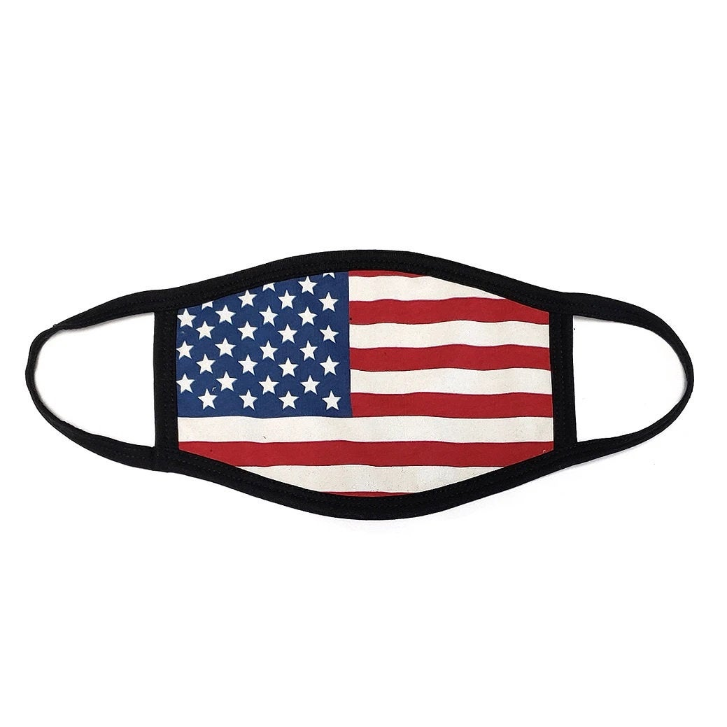 Distressed American Flag Mask