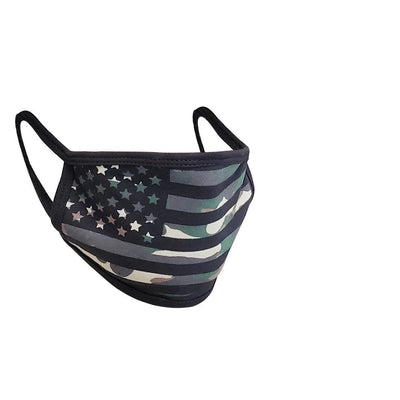 Camo Army American Flag Mask