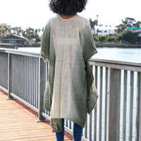 Olive Green Ombre Kimono Jacket,Beach cover up,Bohemian,festival,Oversized,Boho style,cardigan ,Summer Dress,Boho