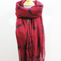 Red Mustache Scarf - Bean Concept - Etsy