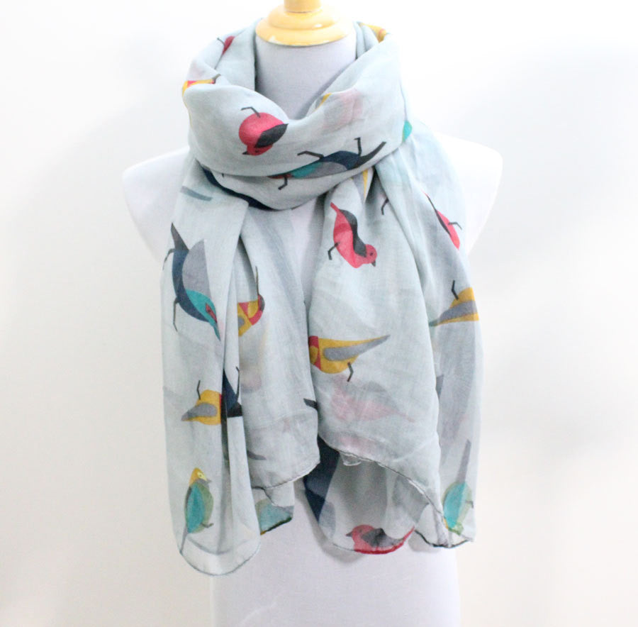 Gray Cute Little Bird Scarf - Bean Concept - Etsy
