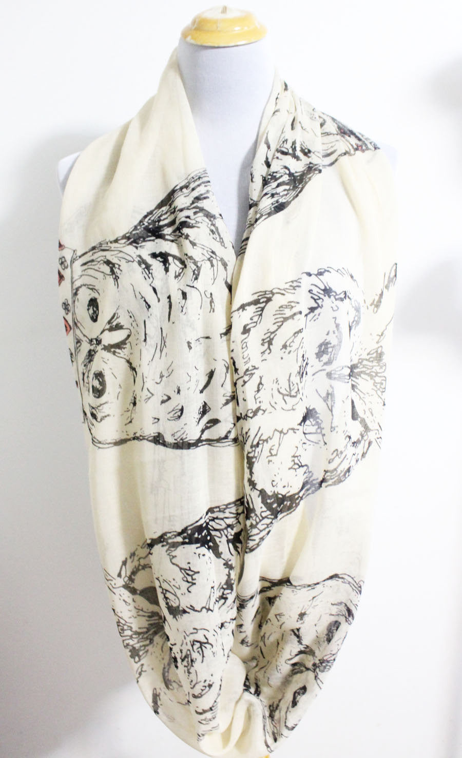 Owl Infinity Scarf - Bean Concept - Etsy