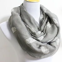 Taupe Owl Infinity Scarf - Bean Concept - Etsy