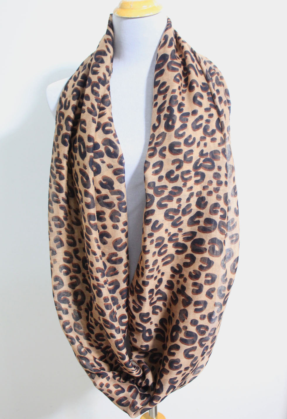Leopard Infinity Scarf - Bean Concept - Etsy