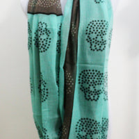 Mint Star Skull Infinity Scarf - Bean Concept - Etsy