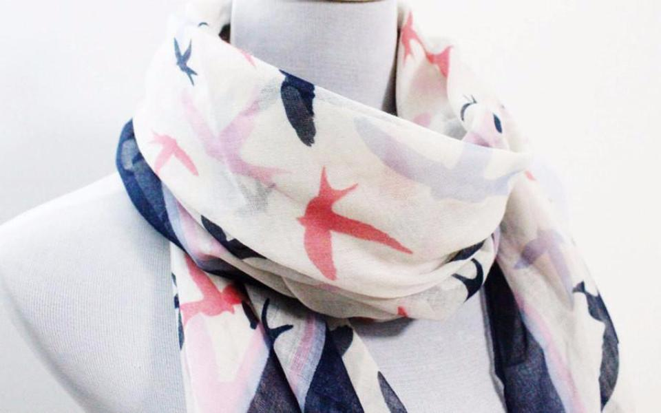White Seagull Square Scarf - Bean Concept - Etsy