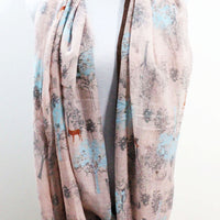 Pink Tree Scarf - Bean Concept - Etsy